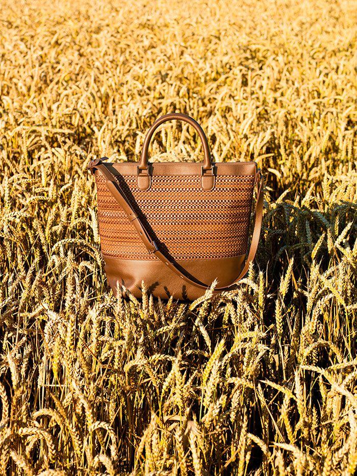 Delvaux bag Spring Summer 2015-every-d-tote-toile-de-cuir-panier-allure-vegetal
