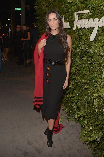 Demi Moore wears Ferragamo in Beverly Hills