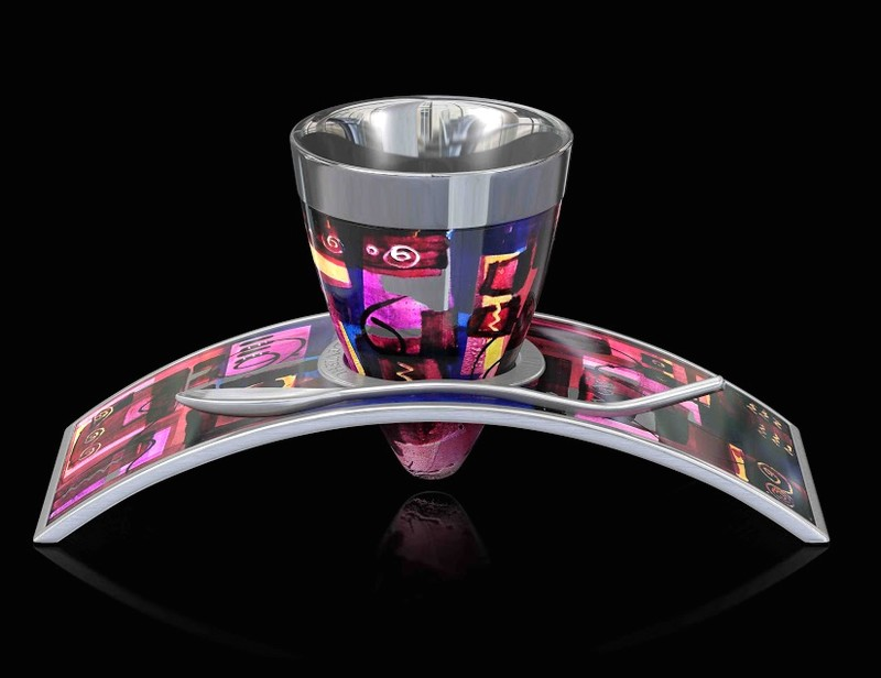Deviehl Luxury Coffee Cup - Arusha Magenta