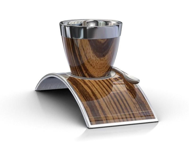 Deviehl Luxury Coffee Cup - Zebrano