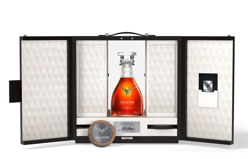 Each bottle of The Dalmore 50 is held within a presentation case designed and crafted by the accomplished furniture makers at LINLEY