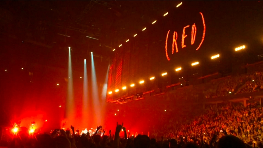 Eat RED Drink RED Save Lives  -U2 tour
