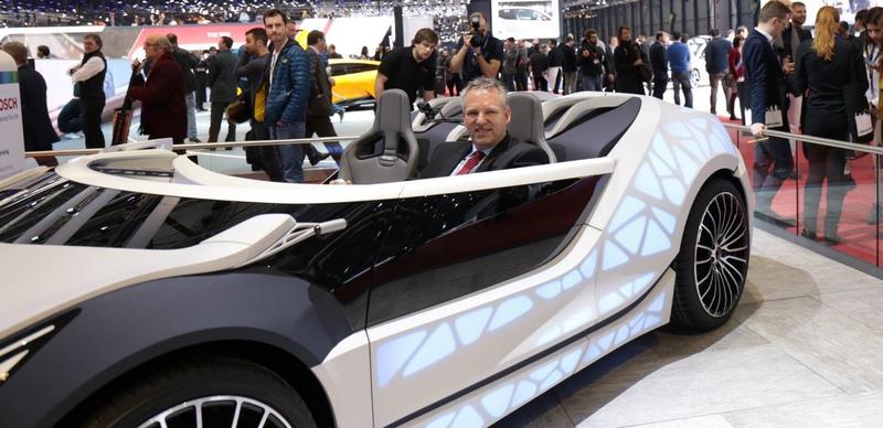 Edag Soulmate smart car concept atGeneva Motor Show 2016 - booth