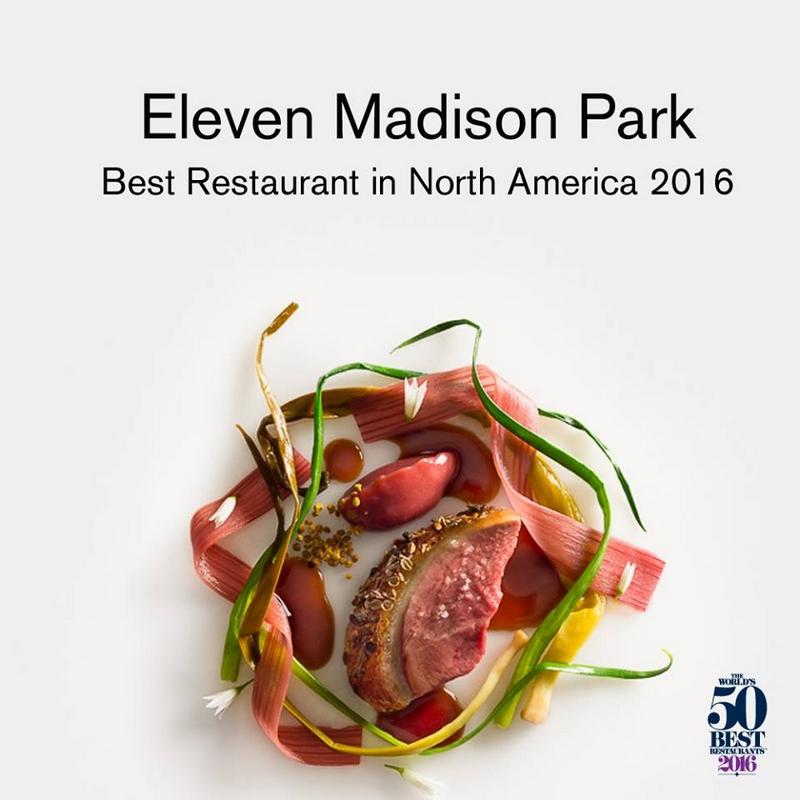 Eleven Madison Park  won the inaugural Ferrari Trento Art of Hospitality Award - 2016 - 2luxury2