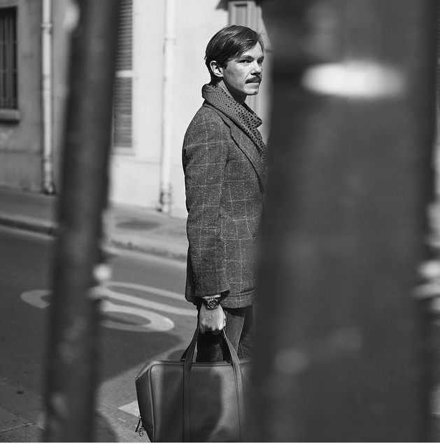 Elie Top and his Moynat Limousine bag 2015 June