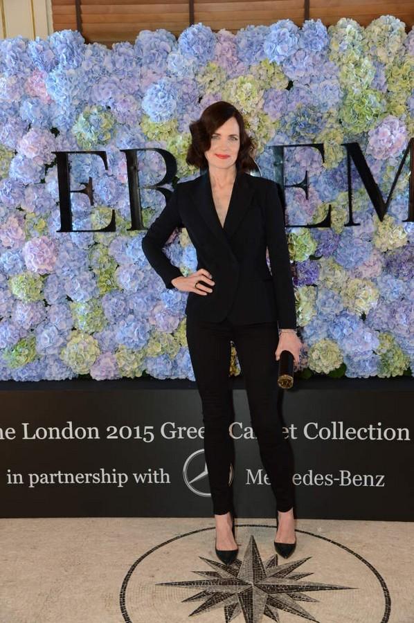 Elizabeth McGovern attends The 2015 Green Carpet Challenge by Erdem