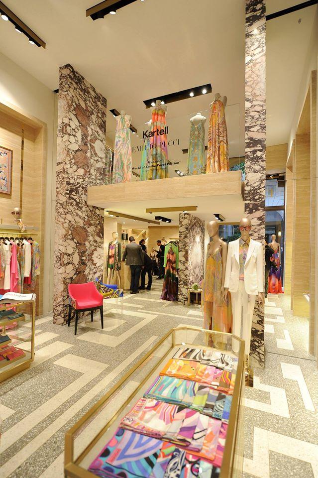 Emilio Pucci boutique in Milan, via Montenapoleone--