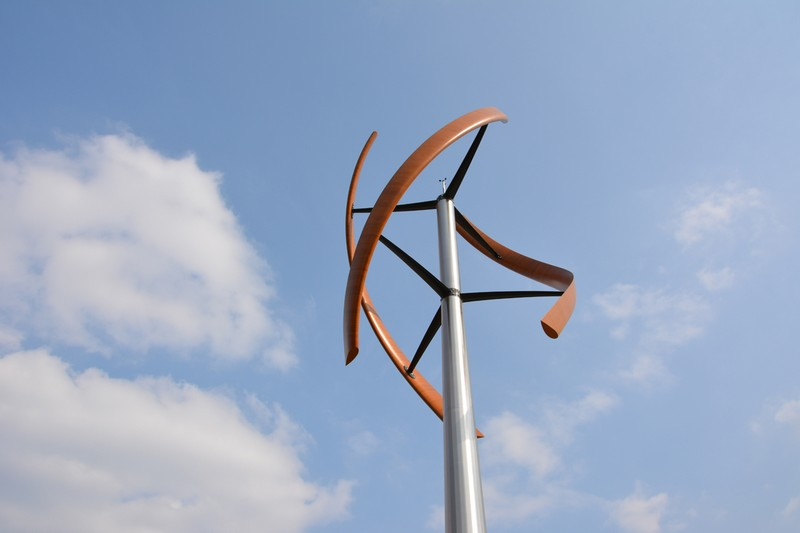 Enessere Hercules Wind Generator--sculpture for harvesting wind