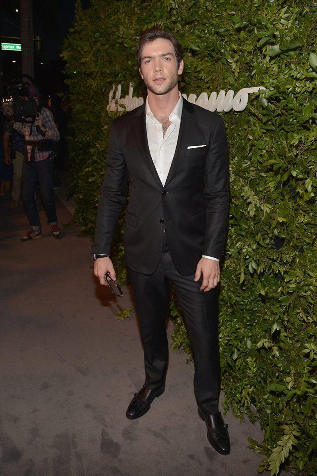 Ethan Peck wears Ferragamo in Beverly Hills