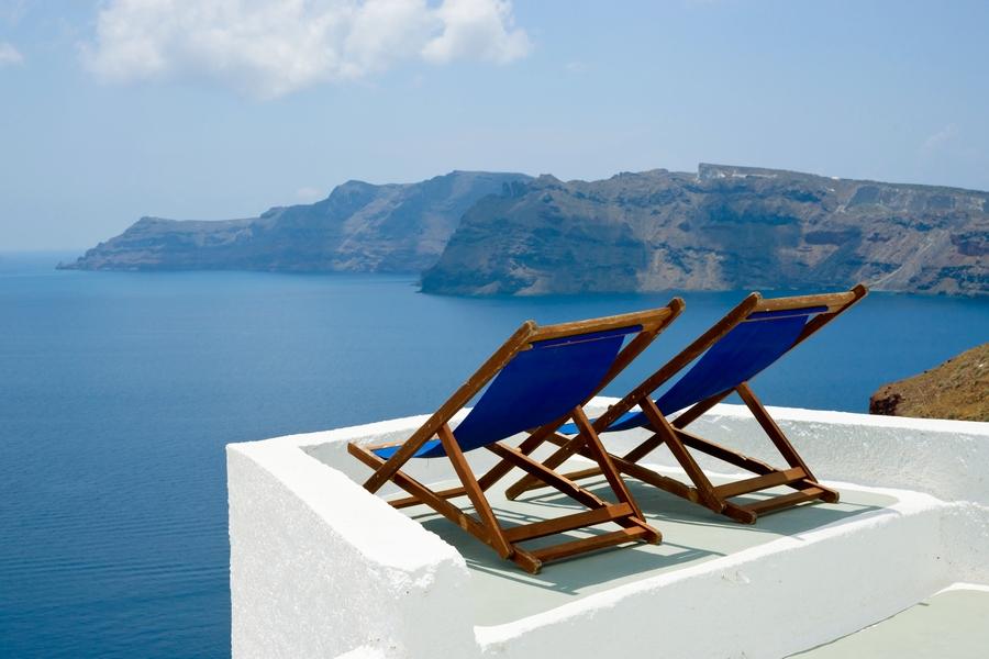 Europe_Greece_Santorini_Blue Beach Chair_attraction_beach_luxury_resort_travel.jpg