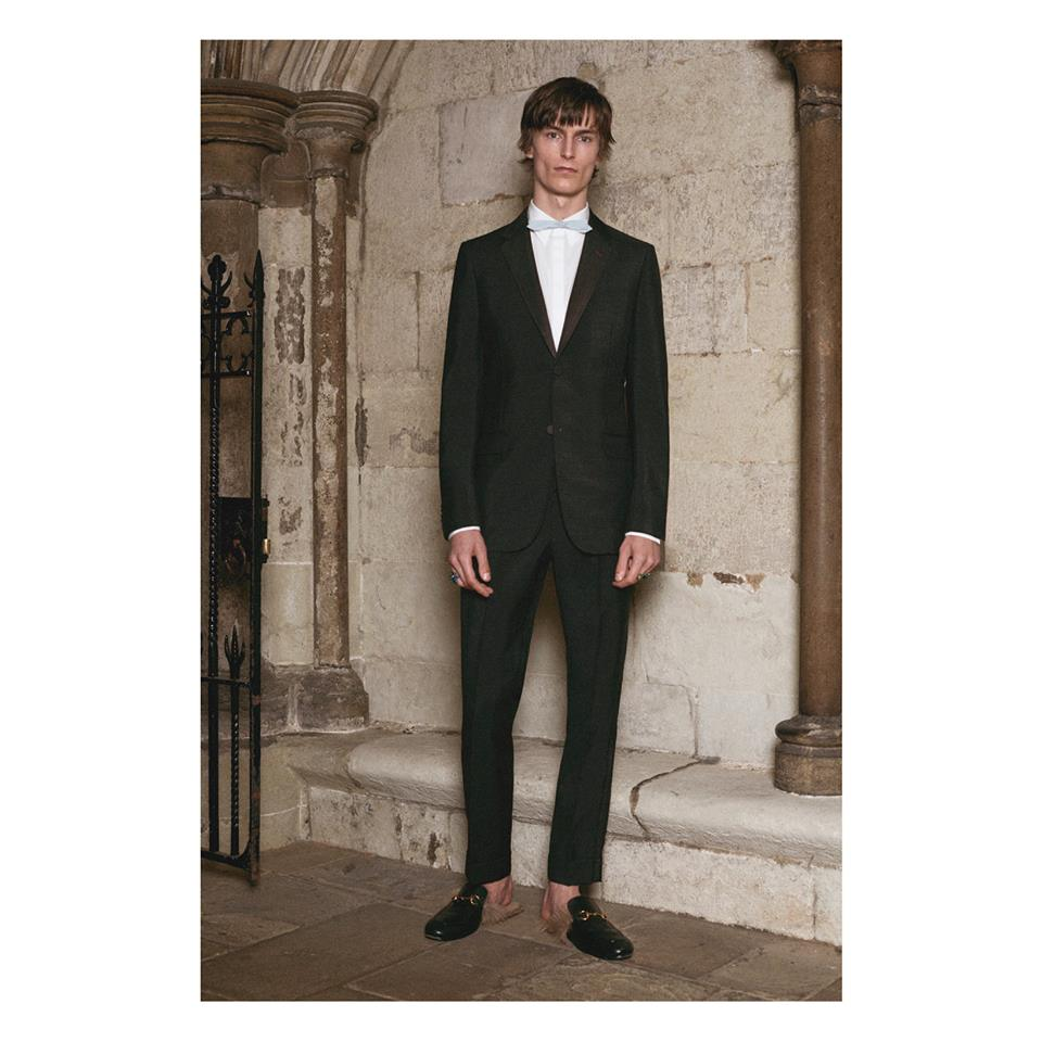 Evening wear suits can also be customized courtesy of the Gucci DIY service
