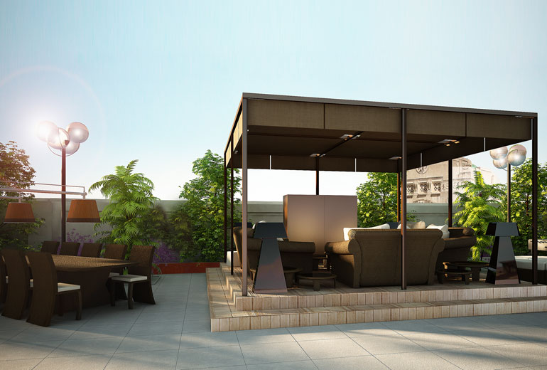 Excelsior Hotel Gallia, a Luxury Collection Hotel, Milan-renovation 2015-Katara Suite Terrace - Rendering