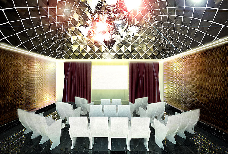 Excelsior Hotel Gallia, a Luxury Collection Hotel, Milan-renovation 2015-La Cupola Multifunctional Meeting Room - Rendering