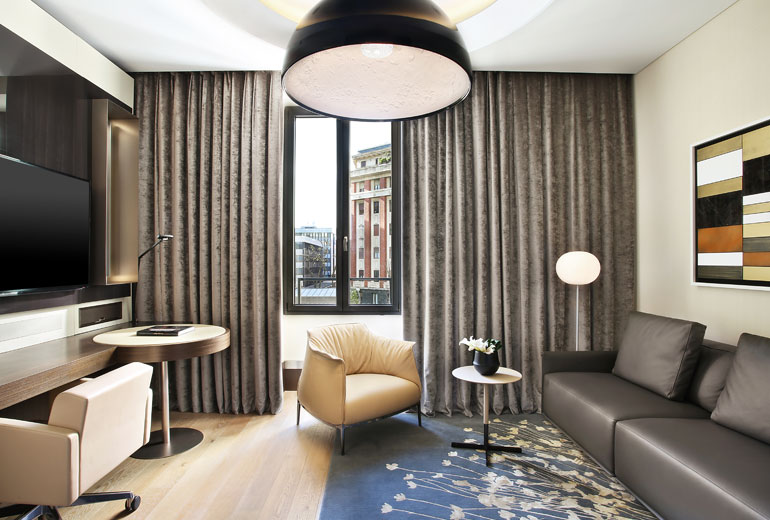 Excelsior Hotel Gallia, a Luxury Collection Hotel, Milan-renovation 2015-Signature Suite Living Room