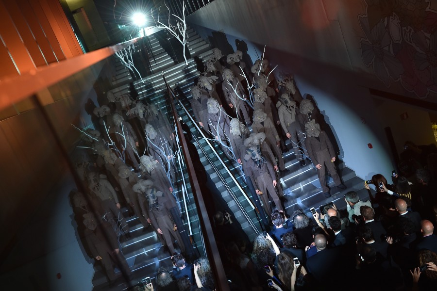 Fabulae Naturae by Lucy + Jorge Orta-the launch event-Fabulae Naturae is a work specially commissioned for the Zegna Group Headquarters in Via Savona Milan