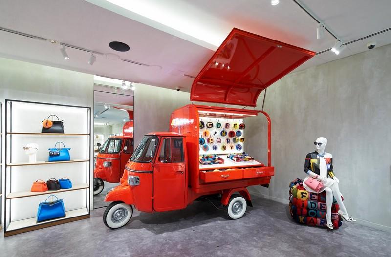 Fendi Ginza Tokyo 2015 opening  - a contemporary interpretation of Rome.