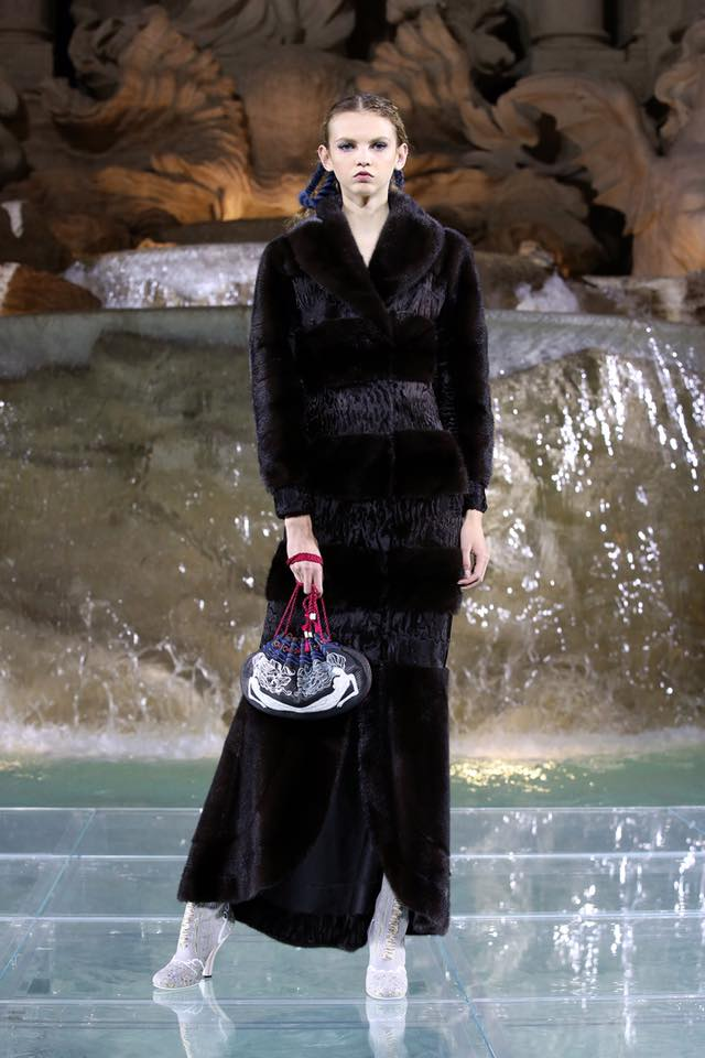 Fendi The Legends and Fairy Tales fashion show at the Trevi Fountain in Rome-
