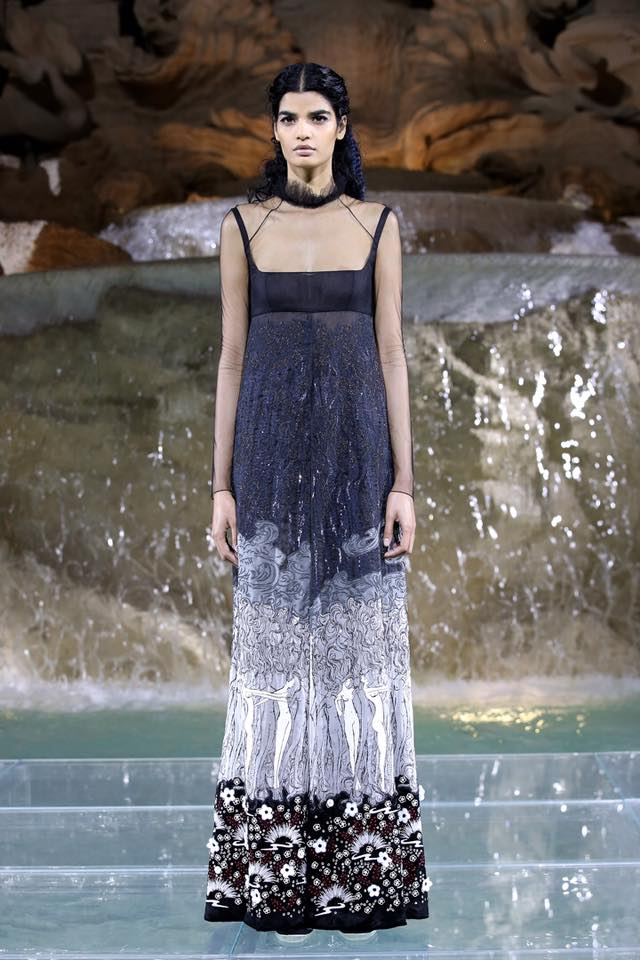 Fendi The Legends and Fairy Tales fashion show at the Trevi Fountain in Rome
