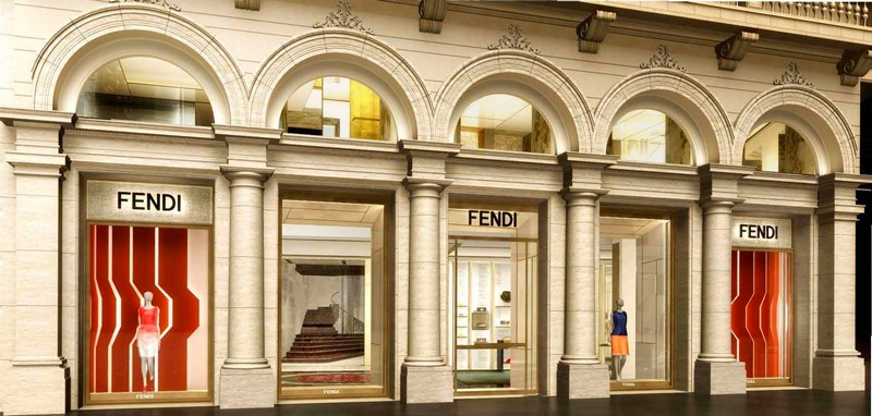 Fendi re-opening of Palazzo Fendi in Rome on December 5th 2015