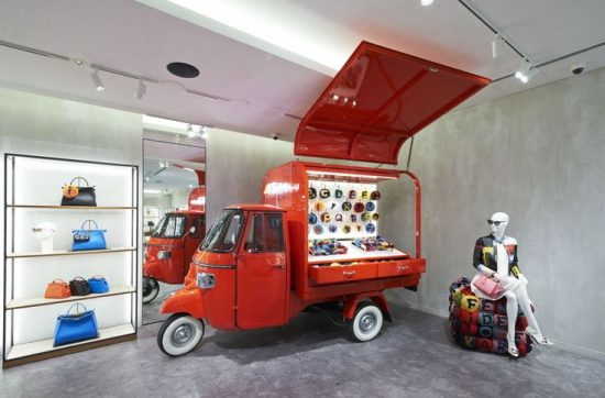 Fendi's Ape Piaggio transformed into a pop-up store - 2016-