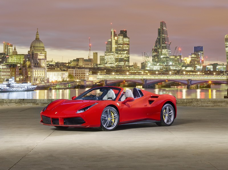 Ferrari 488 Spider Launch  in London-2016-