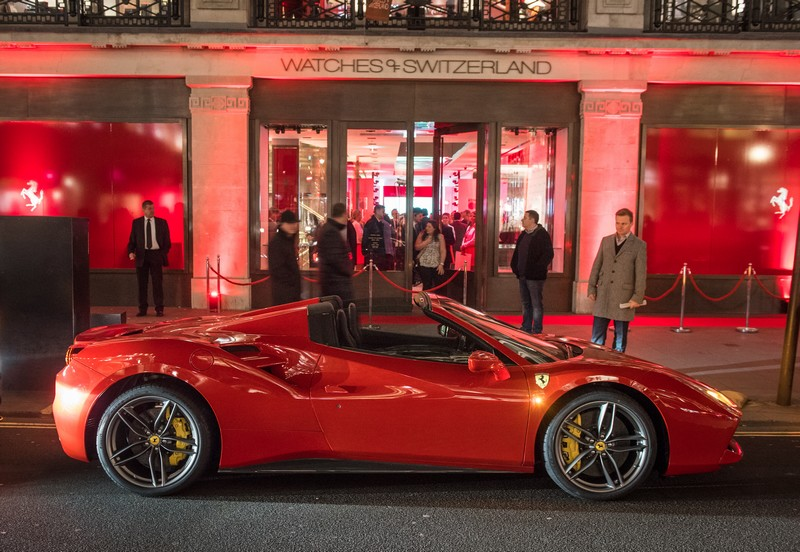 Ferrari 488 Spider unveiled in London to Ferrari clients and vips-