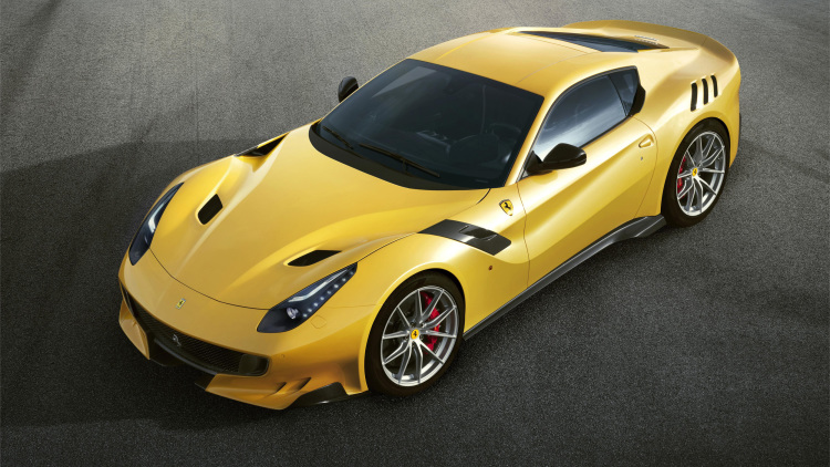 Ferrari F12 TdF paying homage to the Tour de France-