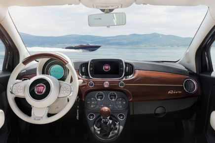 The Fiat 500 Riva with premium fittings of luxury Riva yachts