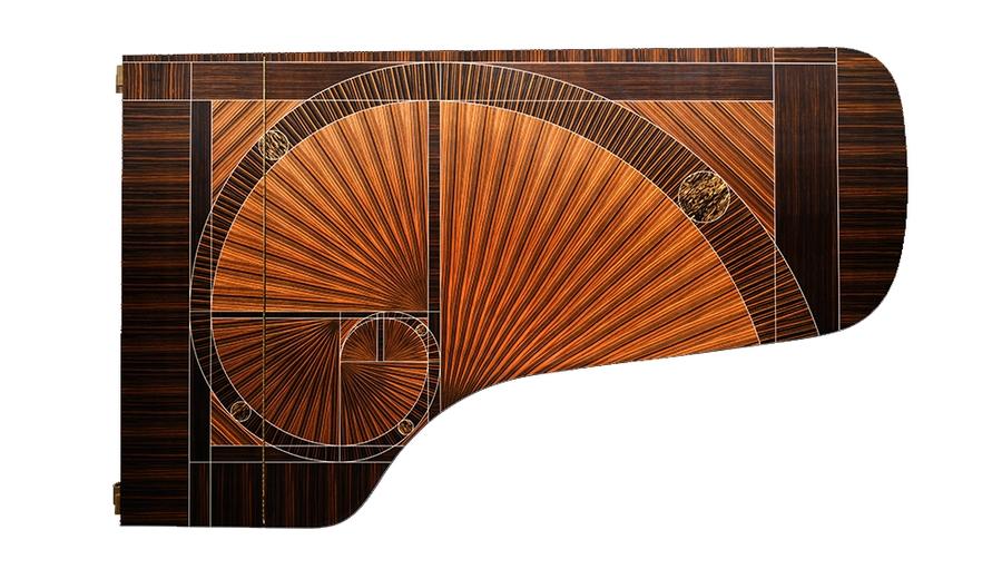 Fibonacci piano - teinway & Sons' 600,000th piano - Fibonacci by master artisan Frank Pollaro
