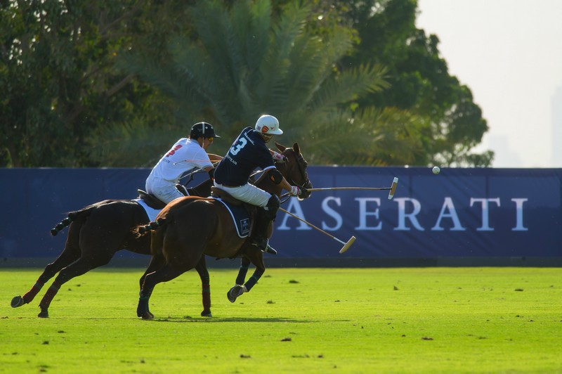 First Maserati Dubai Polo Challenge puts actual horsepower on the field and 24K Gold Dubai Polo shirt on players