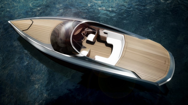 First powerboat developed by Aston Martin and Quintessence Yachts showcased at Milan Design Week 2016