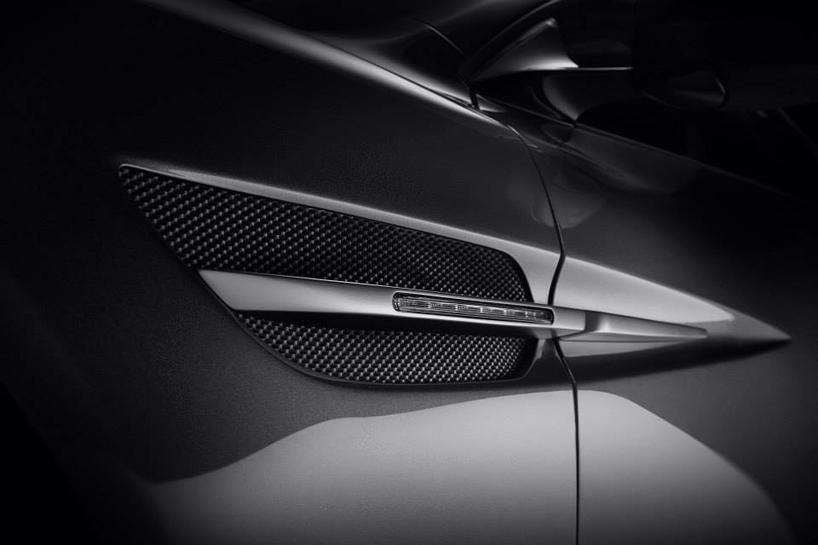Fisker Thunderbolt concept by Henrik Fisker -Henrik Fisker's Aston Martin Vanquish-based Thunderbolt concept @ 2015 Amelia Island