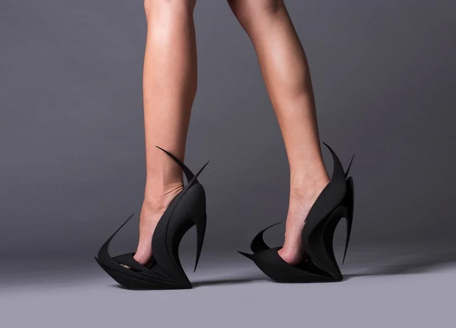 Flames shoes by Zaha Hadid