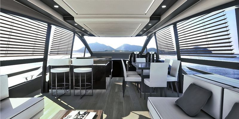 Fly 21 Gullwing - the new flagship of Sessa Marine-interior