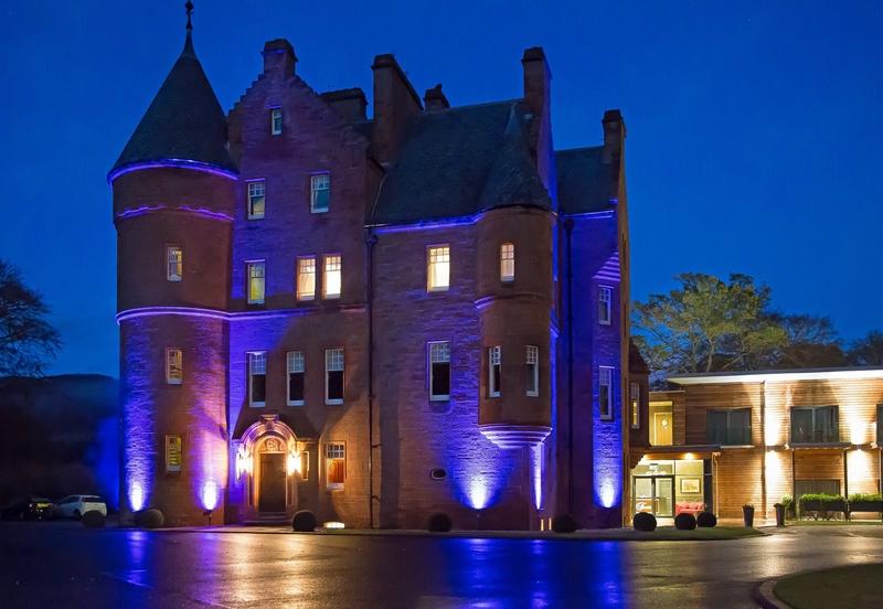 Fonab Castle Hotel by night