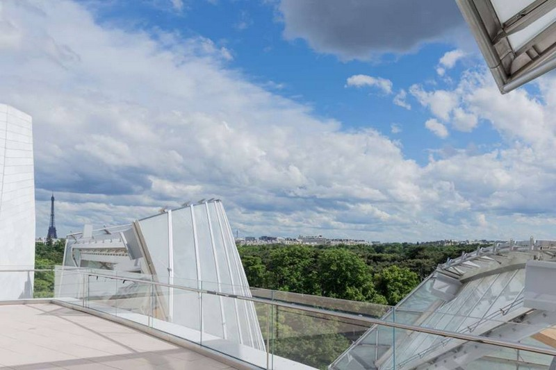 Fondation Louis Vuitton - from the roof terrace - terasa