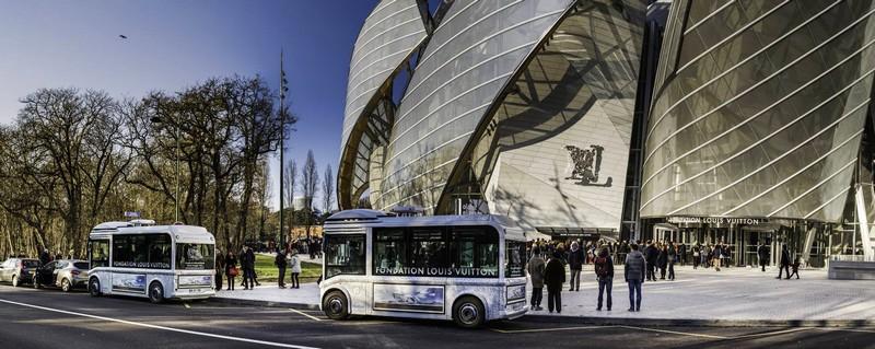 Fondation Louis Vuitton - the entrance
