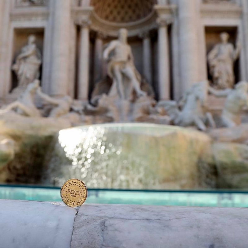 Fontana di Trevi Rome for Fendi90years-From Rome with Love