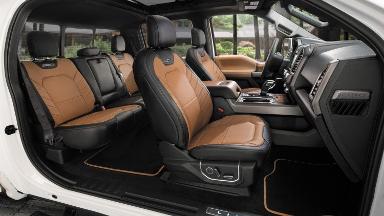 Ford F150newlimited model-interior
