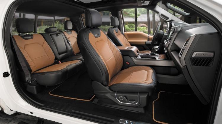 Ford F150newlimited model-interior