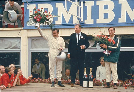 Ford celebrates victory - 24 Hours of Le Mans on the podium in 1966 Le_Mans_1966