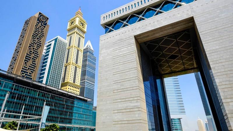 Four Seasons Hotel Dubai International Financial Centre--the gate at DIFC