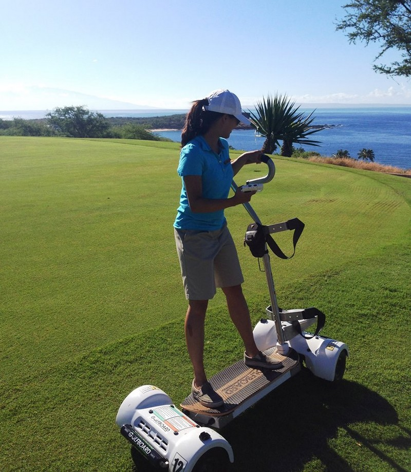 Four Seasons Resort Lanai - Come on over to Manele Golf Course and surf the earth on a GolfBoard