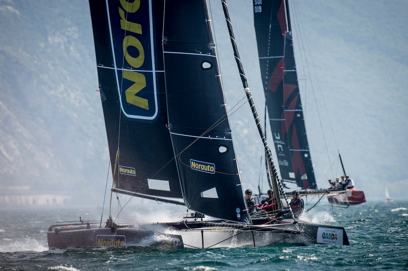 Franck Cammas and his crew on Norauto have won the GC32 Riva Cup