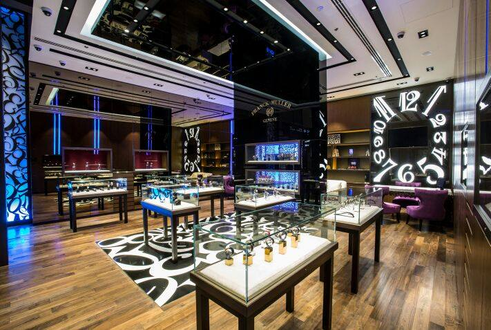 Franck Muller exclusive boutique in the Dubai Mall