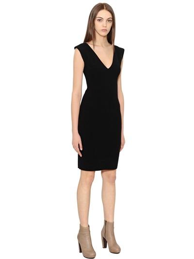 GENTRYPORTOFINO wool dress in black