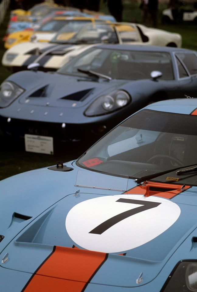 GT40 class at the 2016 Pebble Beach Concours d'Elegance