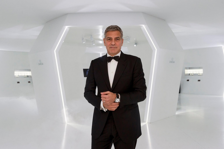 George Clooney for Omega Watches 2015 -OmegaFirstWatchOnTheMoon