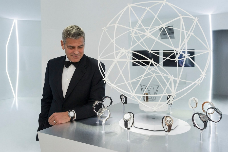 George Clooney for Omega Watches-OmegaFirstWatchOnTheMoon