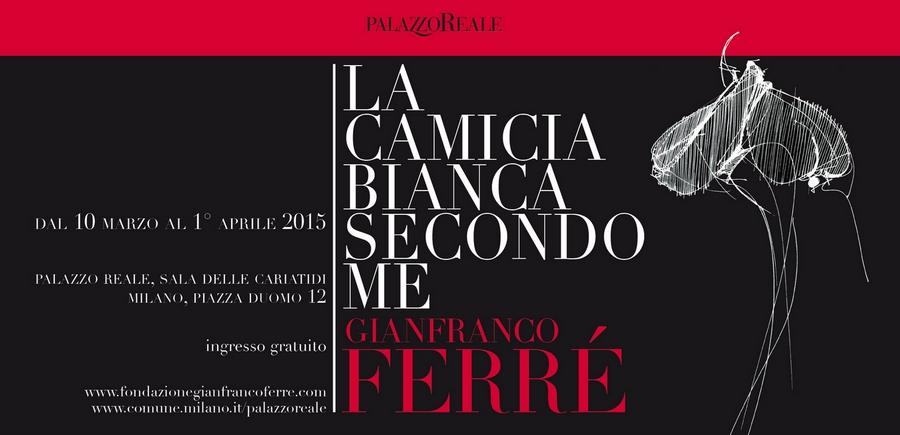 Gianfranco Ferre My White Shirt - La camicia bianca secondo a me 2015 exhibition Milan Palazzo Reale-details